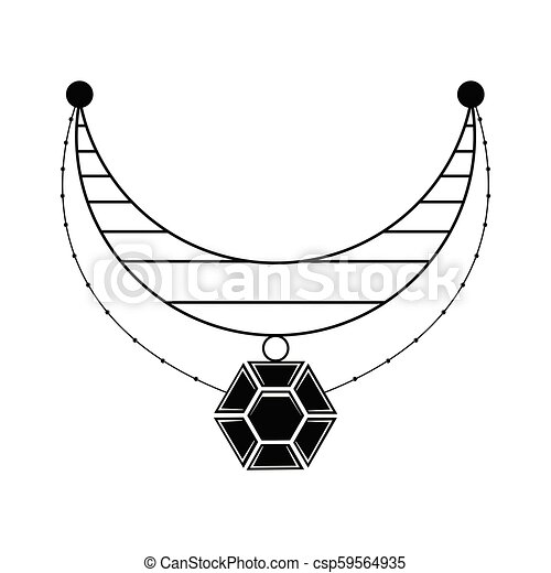 Silhouette of a necklace - csp59564935