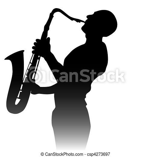 Jazz Sax Silhouette