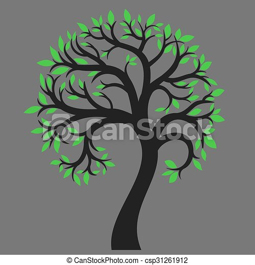 Silhouette of a tree 6 - csp31261912