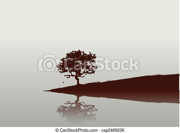 Silhouette of a tree - csp2469236