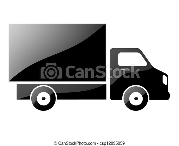 silhouette of a truck. - csp12035059