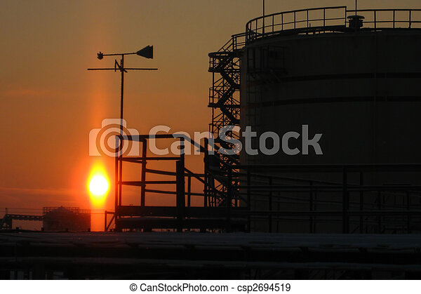 Silhouette of an oil reservoir - csp2694519