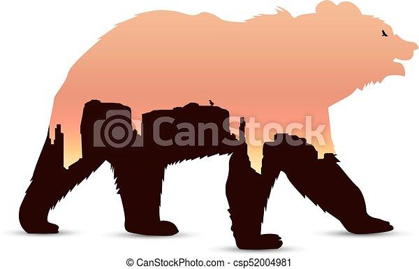 Silhouette of bear - csp52004981
