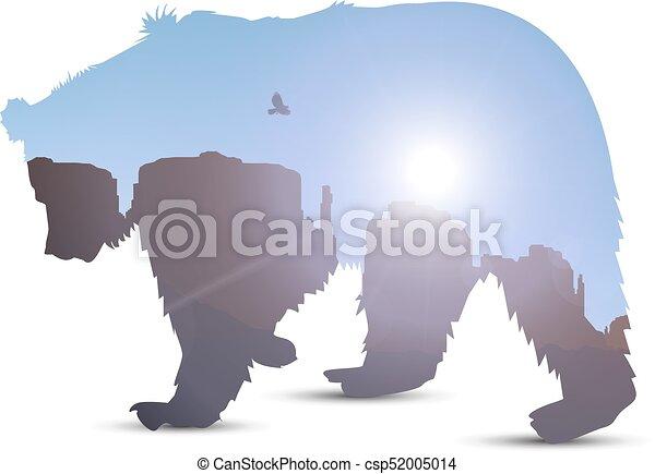 Silhouette of bear - csp52005014