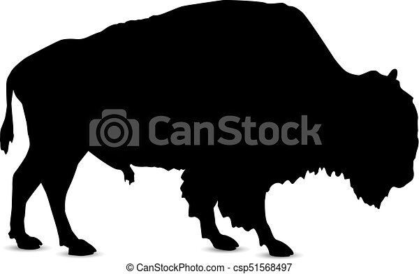 silhouette of bison silhouette of buffalo eps vectors search rh canstockphoto com bison clipart free bison clipart