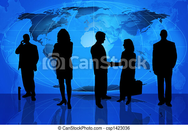 Silhouette of business professional - csp1423036