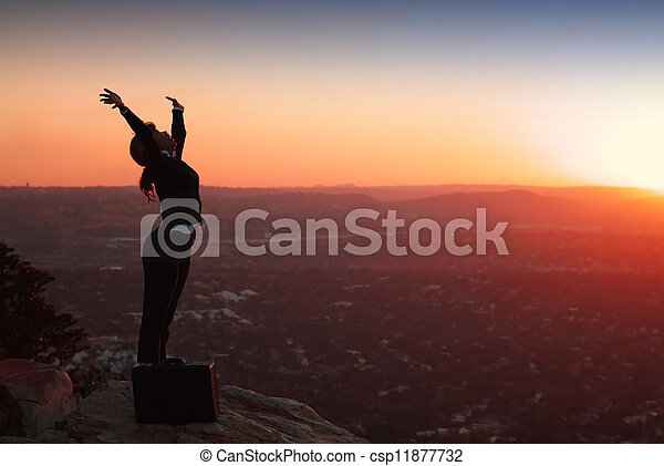 Silhouette of Business Woman - csp11877732