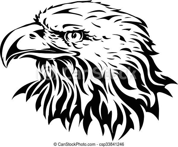 silhouette of eagle head - csp33841246