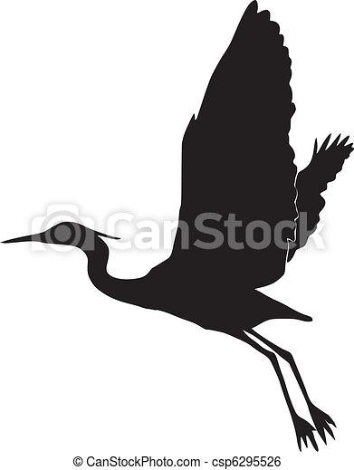 silhouette of egret