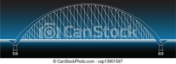 Silhouette of golden gate bridge - csp13901597
