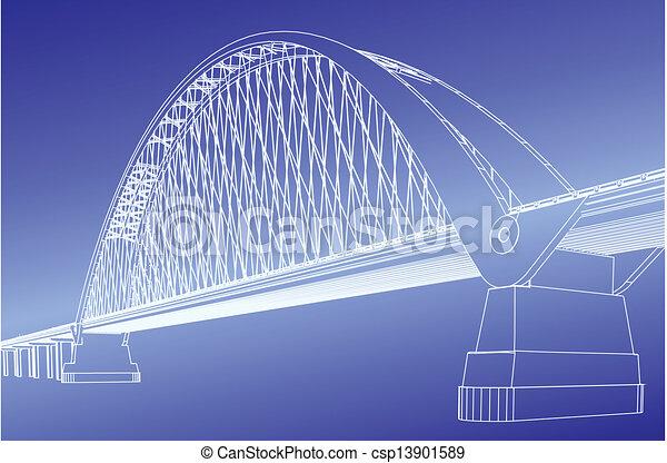 Silhouette of golden gate bridge - csp13901589