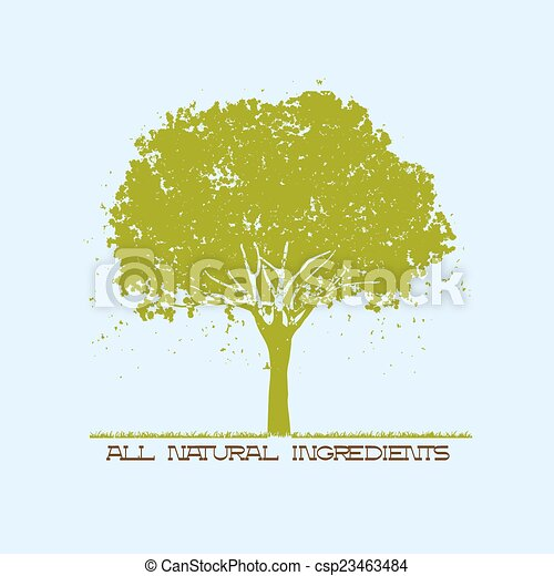Silhouette of green tree - csp23463484