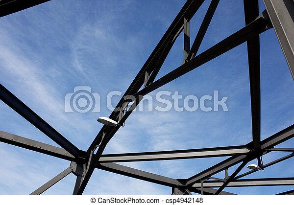 Silhouette of Iron Cove Bridge Structure - csp4942148