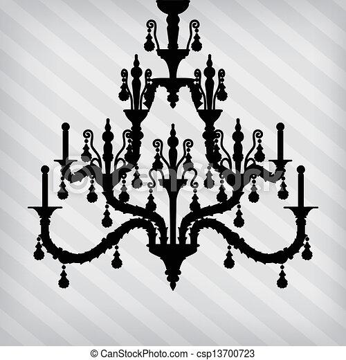 Silhouette of luxury chandelier on a striped background vector silhouette of luxury chandelier csp13700723 aloadofball Gallery