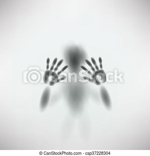 silhouette of man - csp37228304
