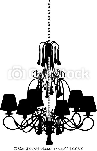 Silhouette of modern chandelier vector clipart search silhouette of modern chandelier vector mozeypictures Choice Image