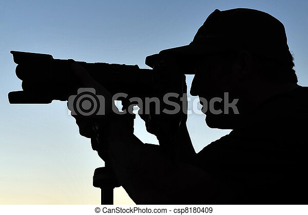 Silhouette of Photographer - csp8180409