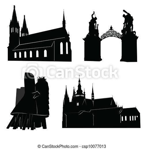 Silhouette of Prague - csp10077013