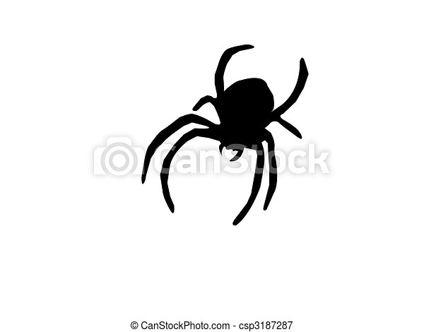 Silhouette of Spider - csp3187287