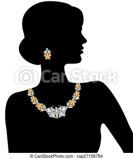 Silhouette of the woman - csp27156784