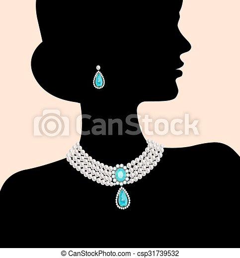 Silhouette of the woman - csp31739532