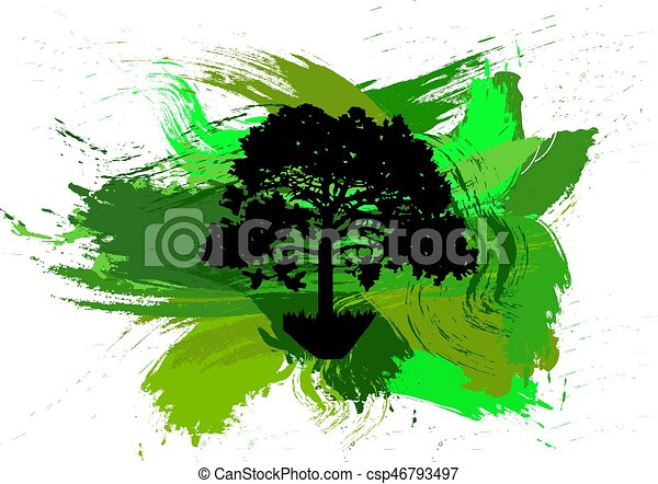 Silhouette of  tree - csp46793497