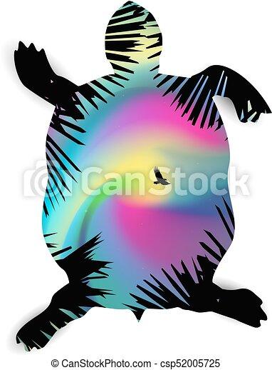 Silhouette of turtle - csp52005725