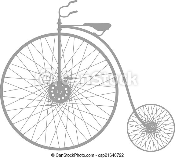 Silhouette of vintage bicycle - csp21640722