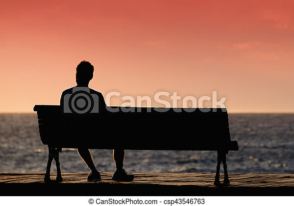 Man Sitting Alone