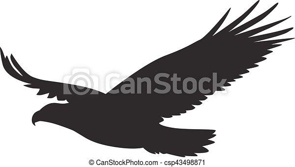 Silhouette oiseau diffusion vecteur proie vol ailes - Dessin oiseau en vol ...