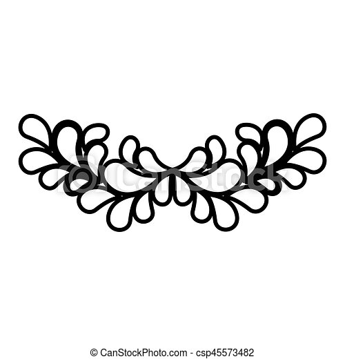 silhouette ornament with leaves design vector illustration vector rh canstockphoto com vector ornaments for co2 laser vector ornaments designs for free
