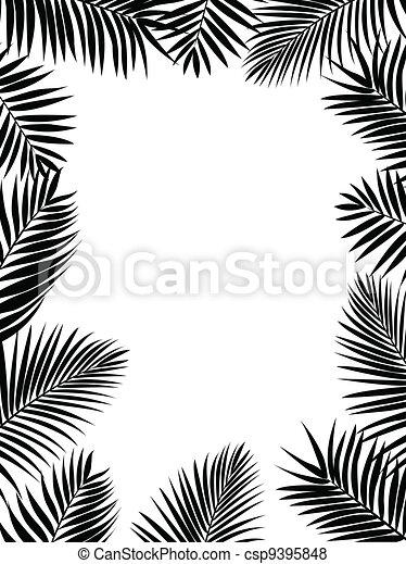 silhouette, palm vel - csp9395848