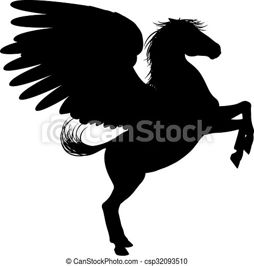 Black Horse Standing On Two Legs