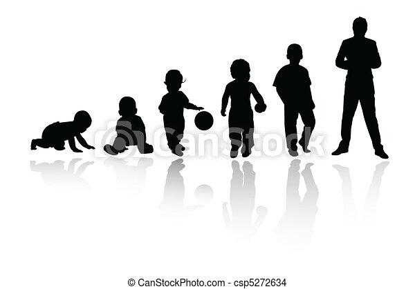 silhouette person - csp5272634