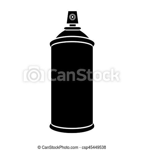 silhouette, pulvérisation, boîte aérosol, bouteille, icône - csp45449538