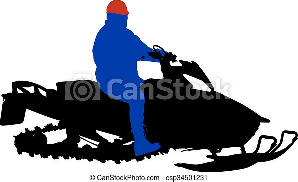 silhouette snowmobile on white background vector vectors rh canstockphoto com snowmobile clipart black and white snowmobile clipart images