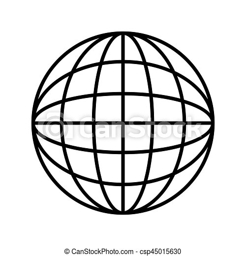 silhouette sphere with lines cartographic vector vectors search rh canstockphoto ca vector sphere intersection vector sphere illustrator