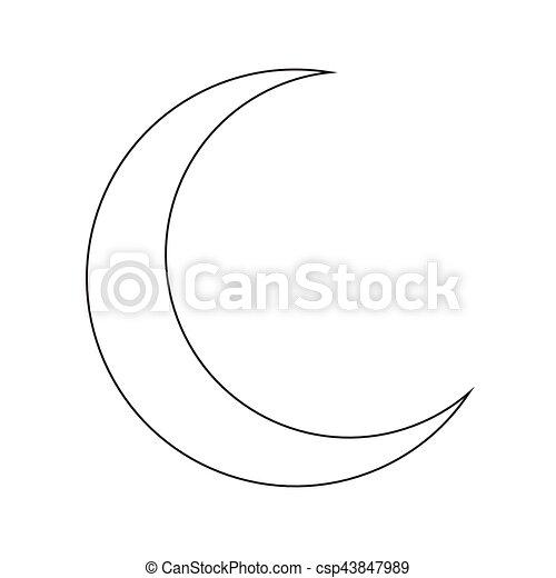 Silhouette Symbole Lune Vecteur Croissant Icone Design Beau Silhouette Symbole Isole Illustration Lune Vecteur Canstock