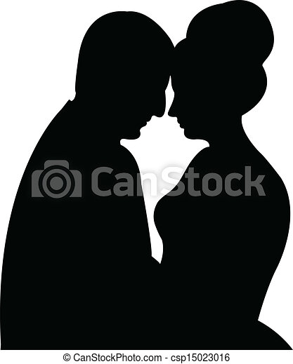 silhouette vector of a couple  - csp15023016