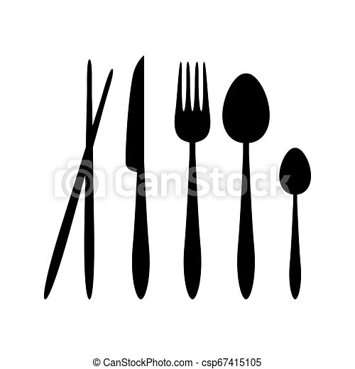 Vector Illustration Of Plastic Spoon, Fork And Knife Isolated.. Royalty  Free Cliparts, Vectors, And Stock Illustration. Image 96214172.