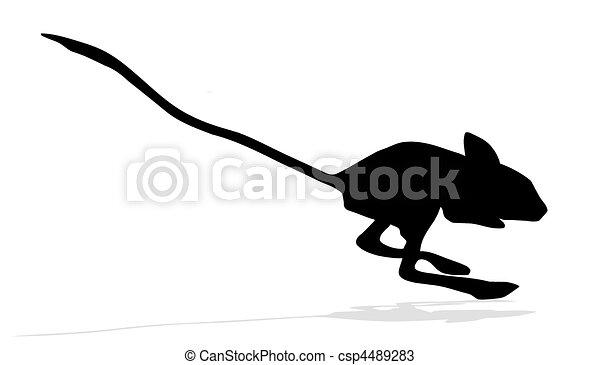 silhouette, vettore, jerboa - csp4489283