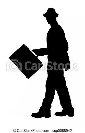 silhouette, zakelijk - csp0088942