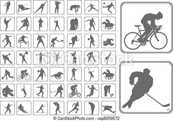 Silhouettes Athlet - csp8259572