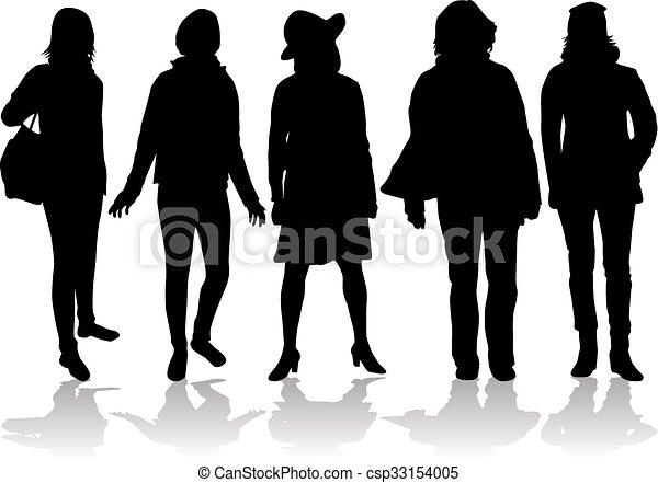 Frauen Silhouetten - csp33154005