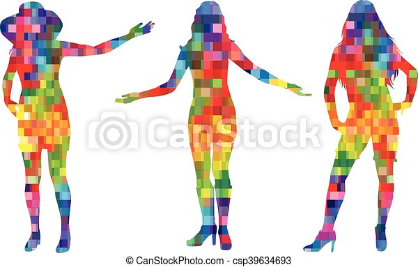 Frauen Silhouetten - csp39634693