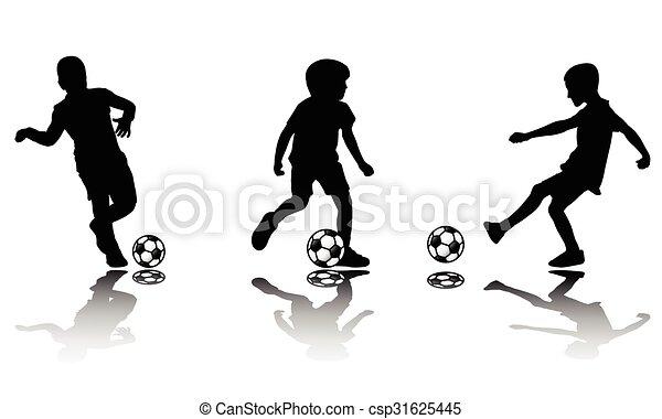 Silhouetten Fussball Kinder Fussball Silhouetten Vektor