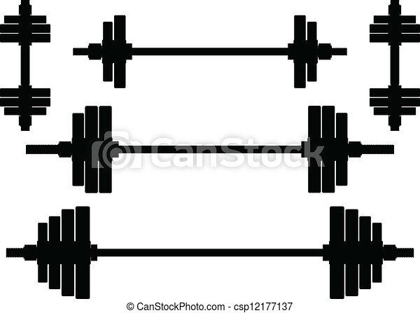 silhouetten, gewichte - csp12177137