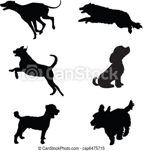 Hundesilhouette - csp6475715