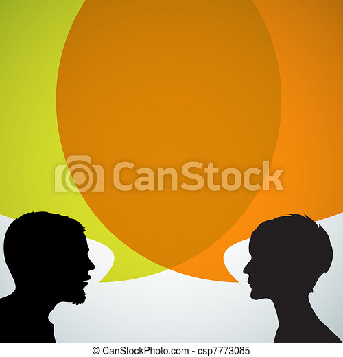 silhouettes, abstract, sprekers - csp7773085