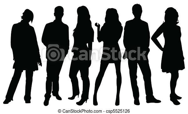 silhouettes, affaires gens - csp5525126